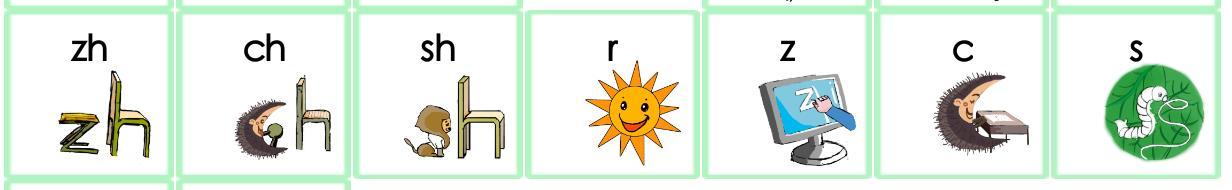 翘舌音有哪些字母(小学汉语拼音翘舌音字母大全)